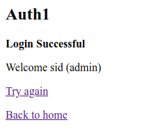 A successful login as an admin using the new signature